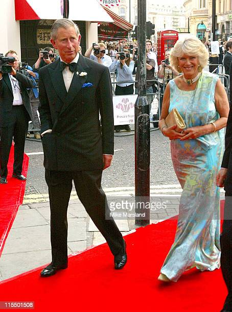 Camilla Parker Bowles and HRH Prince Charles during The Royal Gala Charity Performance of 'Mamma Mia' at The Prince of Wales Theatre in London Great...