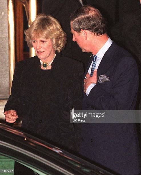 Camilla Parker Bowles and Prince Charles walk out of the Ritz January 28 1999 More than 100 photographers took up positions outside London's Ritz...