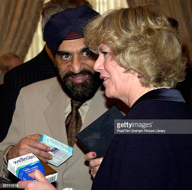 Camilla Parker Bowles Carrying Out Her First Public Engagement As President Of The National Osteoporosis Society She Is Talking To Doctor Kartar...