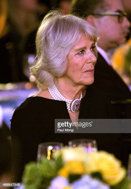 Camilla Parker Bowles Duchess of Cornwall attends the International Conservation Caucus Foundation Gala where her husband Prince Charles Prince of...