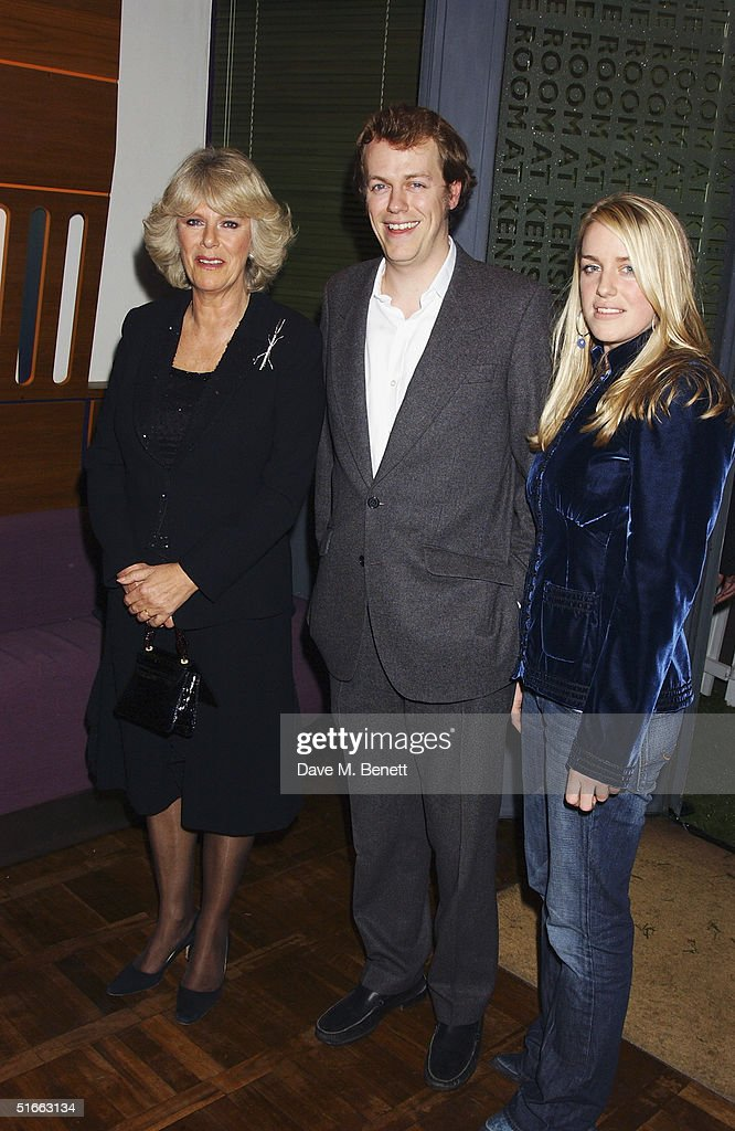 Camilla Parker Bowles, Tom Parker Bowles and Laura Parker Bowles attend the party celebrating the launch of Tom Parker Bowles new book ' E Is For Eating' at Kensington Place on November 3, 2004 in London. Subtitled 'An Alphabet Of Greed', book focuses on unusual subjects including 'c is for cannibalism' and 'i is for insects'.