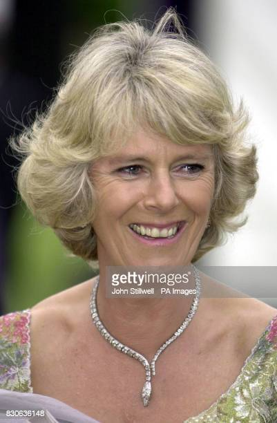 Camilla ParkerBowles at the 'Its Fashion' charity gala dinner at Waddesdon Manor The dinner is in aid of the Mcmillan Cancer relief fund 28/02/02...