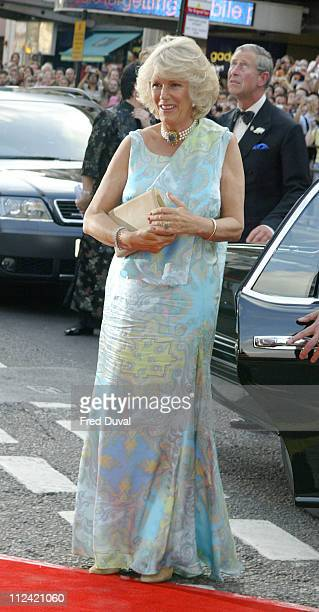 Camilla ParkerBowles during The Royal Gala Charity Performance of 'Mamma Mia' at Prince of Wales Theatre in London Great Britain
