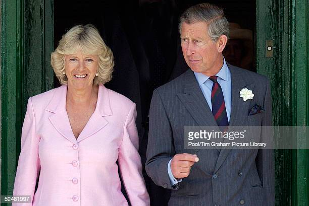 Camilla ParkerBowles is seen with HRH Prince Charles outside the Merchant's House in Wiltshire on June 18 2004 in Marlborough England Clarence House...