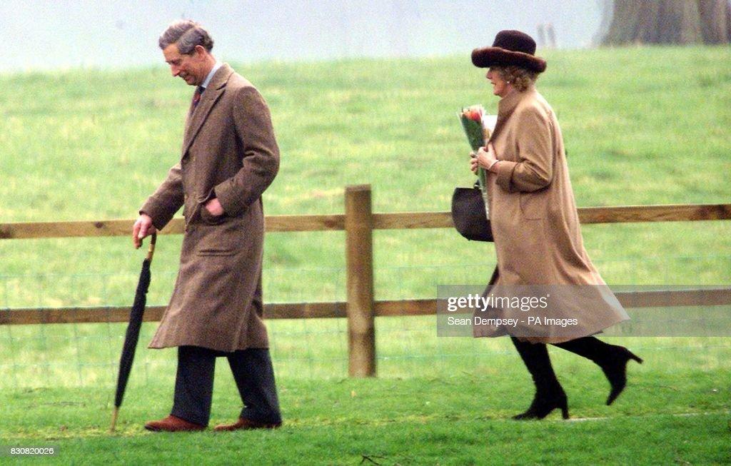 Camilla and Charles at Sandringham : News Photo