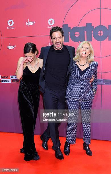 Camilla Renschke Oliver Mommsen and Sabine Postel attend celebration event of 1000 Episodes of the crime movie 'Tatort' at Cinemaxx Dammtor on...