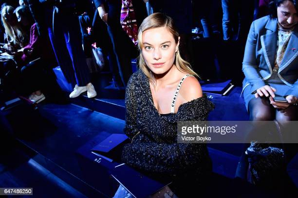 Camilla Rowe attends the Christian Dior show as part of the Paris Fashion Week Womenswear Fall/Winter 2017/2018 on March 3 2017 in Paris France