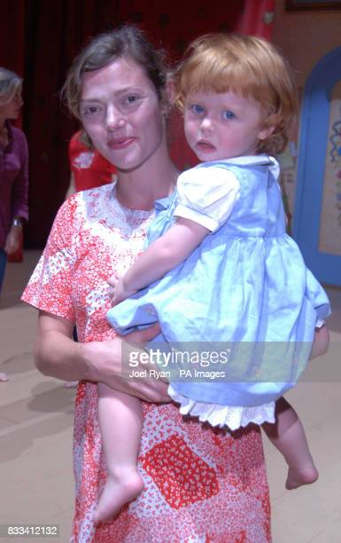 Camilla Rutherford and daughter Maud age 2 attend Angelina Ballerina's Star Performance at the start of the 12 week regional tour across the UK at...