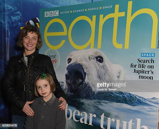 Camilla Rutherford and Daughter Nancy attend the launch of BBC Earth magazine at SEA LIFE London Aquarium on November 2 2016 in London England