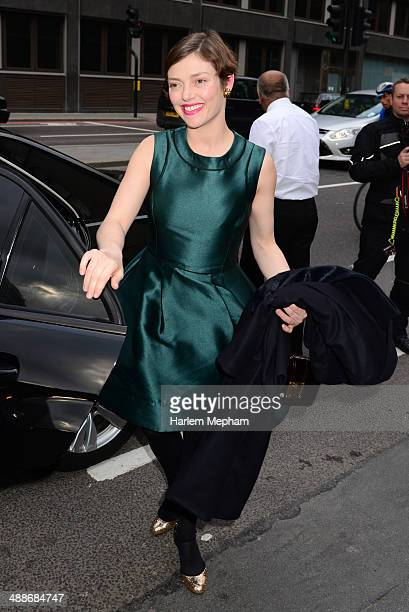 Camilla Rutherford arrives at Old Billingsgate for Gabrielle's Gala on May 7 2014 in London England