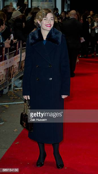 Camilla Rutherford arriving at the European premiere of The Rewrite at the Kensington Odeon in London.