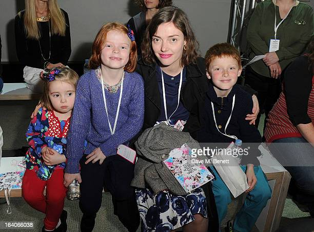 Camilla Rutherford attends the Global Kids Fashion Week AW13 media and VIP show at The Freemason's Hall on March 19 2013 in London England