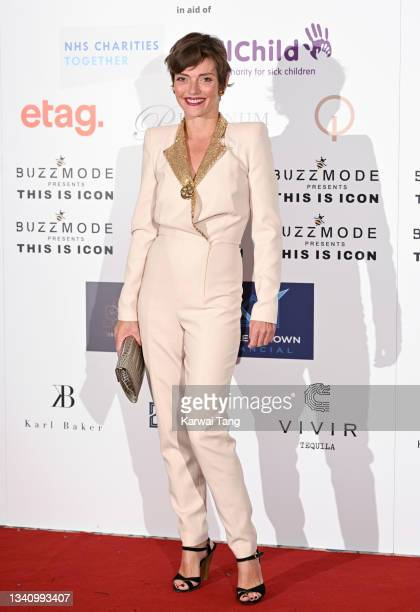 Camilla Rutherford attends The Icon Ball 2021 during London Fashion Week September 2021 at The Landmark Hotel on September 17, 2021 in London,...