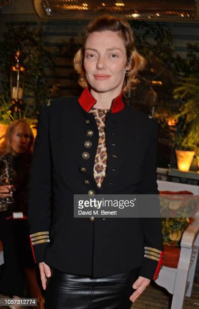 Camilla Rutherford attends The Ivy Chelsea Garden's annual Guy Fawkes party on November 4 2018 in London England