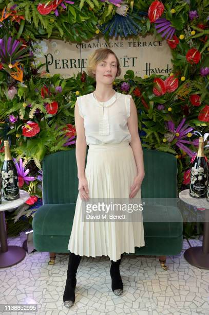 Camilla Rutherford attends the launch of the PerrierJouet Champagne Terrace at Harrods on March 27 2019 in London England