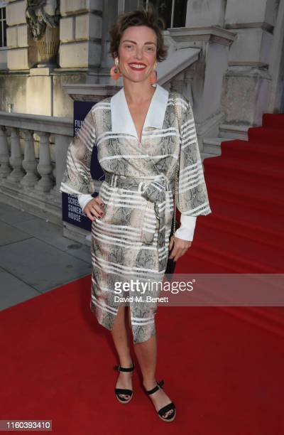 Camilla Rutherford attends the opening night of Film4 Summer Screen at Somerset House featuring the UK Premiere of Pain And Glory on August 8 2019 in...