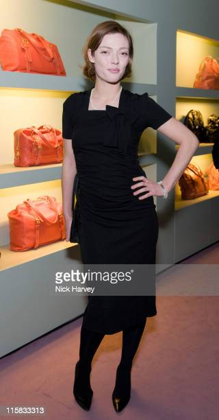 Camilla Rutherford attends the Prada Christmas Cocktail Party at the Prada Store Bond Street on December 13 2007 in London England