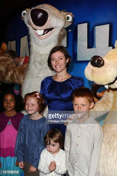 Camilla Rutherford attends the UK Film Premiere of Ice Age 4 at Empire Leicester Square on June 30 2012 in London England
