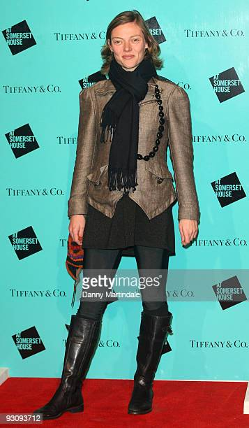 Camilla Rutherford attends the VIP opening of Skate at Somerset House hosted by Tiffany and Co at Somerset House on November 16 2009 in London England