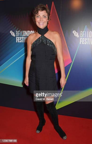 """Camilla Rutherford attends the World Premiere of """"Quant"""" during the 65th London Film Festival at The Curzon Mayfair on October 9, 2021 in London,..."""
