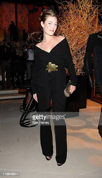 Camilla Rutherford during Donna Karan Celebrates the Launch of Her New Fragrance Gold at Donna Karen Store in London Great Britain