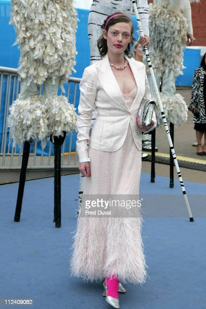 Camilla Rutherford during Ice Space Launch Party Outside Arrivals at Tower Bridge in London Great Britain