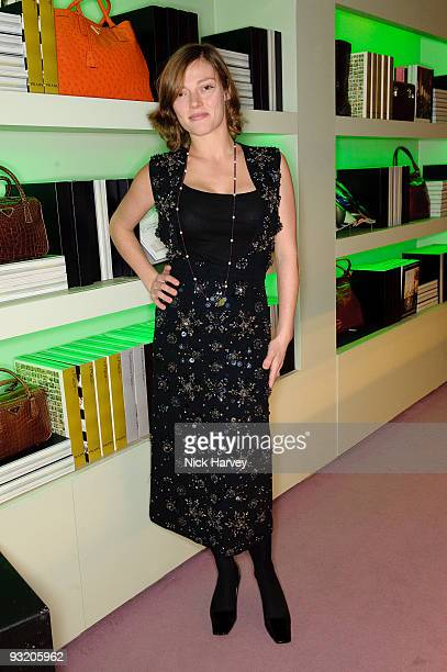 Camilla Rutherford in Prada attends party to celebrate launch of new Prada book on November 18 2009 in London England
