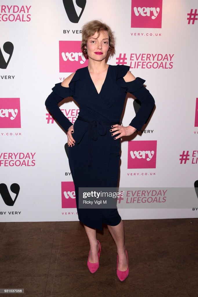 Camilla Rutherford seen attending Very.co.uk: #Everydaylifegoals - launch party to celebrate the launch of Very's new campain on March 13, 2018 in London, England.