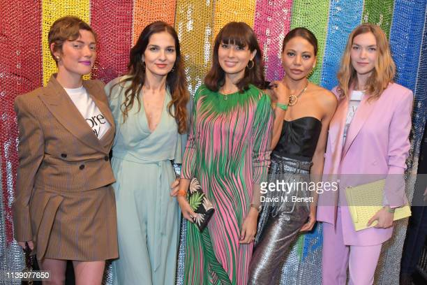 Camilla Rutherford Yasmin Mills Jasmine Hemsley Emma Weymouth and Arizona Muse attend a cocktail supper hosted by BOTTLETOP cofounders Cameron Saul...