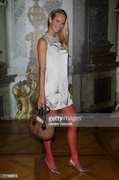 e3a29779f6 Camilla Schoenberg attends the Roberto Cavalli show as part of Milan Fashion  Week Spring Summer 2008