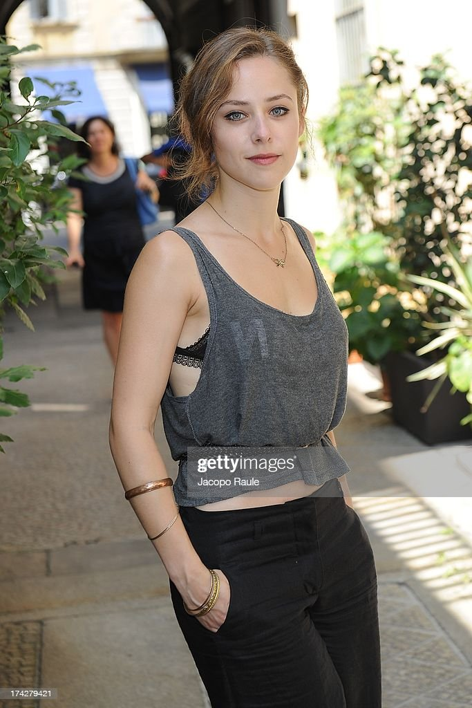 Camilla Semino Favro attends 'Vent'Anni Prima' Press Conference on July 23, 2013 in Milan, Italy. Vanity Fair and Rai Fiction present today the first mag series.