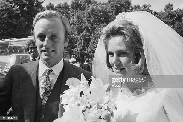Camilla Shand marries Major Andrew ParkerBowles at the Guards Chapel Wellington Barracks 4th July 1973
