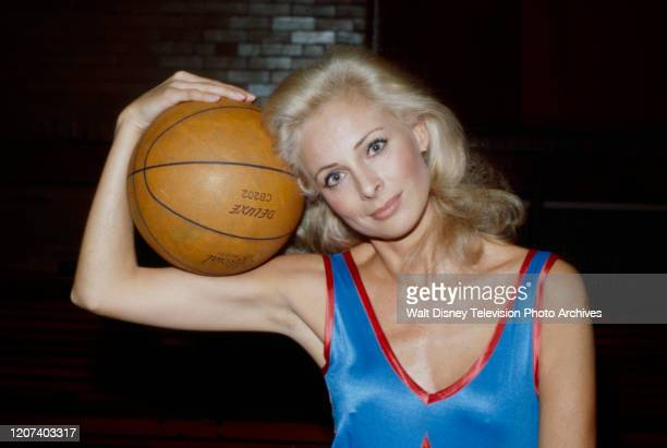 Camilla Sparv appearing in coverage of charity basketball game held at Madison Square Garden on the ABC tv series 'Good Morning America'