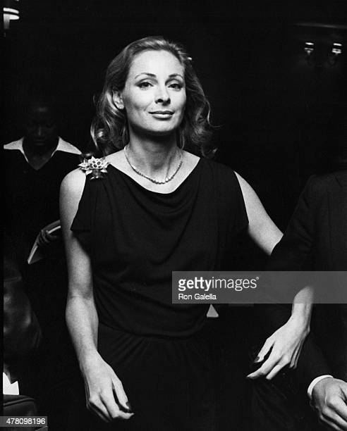 Camilla Sparv attends the premiere of The Greek Tycoon on May 11 1978 at the Plaza Theater in New York City