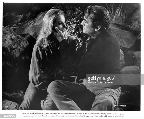 Camilla Sparv is admired by Gregory Peck in a scene from the film 'Mackenna's Gold' 1969