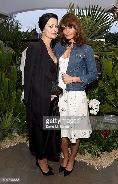 Camilla Staerk and Helena Christensen attend the Helena Christensen for Thomson Sensatori event at Ham Yard Hotel on May 9 2016 in London England