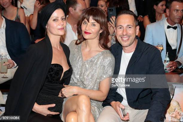Camilla Staerk Helena Christensen and Graeme Lewsy arrives ahead of the VAMFF 2018 Virgin Australila Grand Showcase presented by marie claire on...