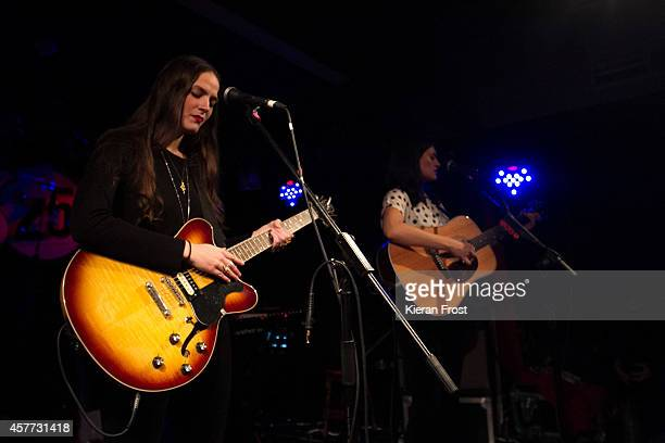 Camilla Staveley-Taylor and Jessica Staveley-Taylor of The Staves performs on stage at Whelan's on October 23, 2014 in Dublin, Ireland.