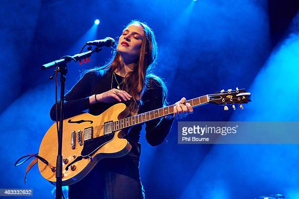 Camilla StaveleyTaylor of The Staves performs on stage at Hackney Empire on February 12 2015 in London United Kingdom