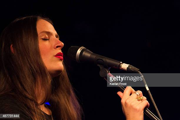 Camilla Staveley-Taylor of The Staves performs on stage at Whelan's on October 23, 2014 in Dublin, Ireland.