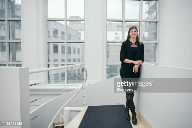 Camilla Sutton, president and chief executive officer of Women in Capital Markets, stands for a photograph at her office in Toronto, Ontario, Canada,...