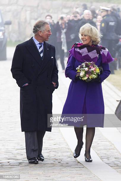 Camilla The Duchess Of Cornwall And Prince Charles The Prince Of Wales Visit Kronborg Castle Elsinore