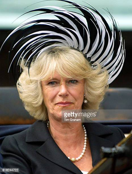 JULY 2005 *** Camilla the Duchess of Cornwall arrives at St George's Chapel for the traditional Order of the Garter procession and service at Windsor...