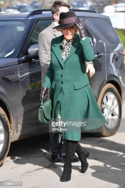 Camilla, The Duchess of Cornwall attends Ladies Day at the Cheltenham Festival at Cheltenham Racecourse on March 11, 2020 in Cheltenham, England