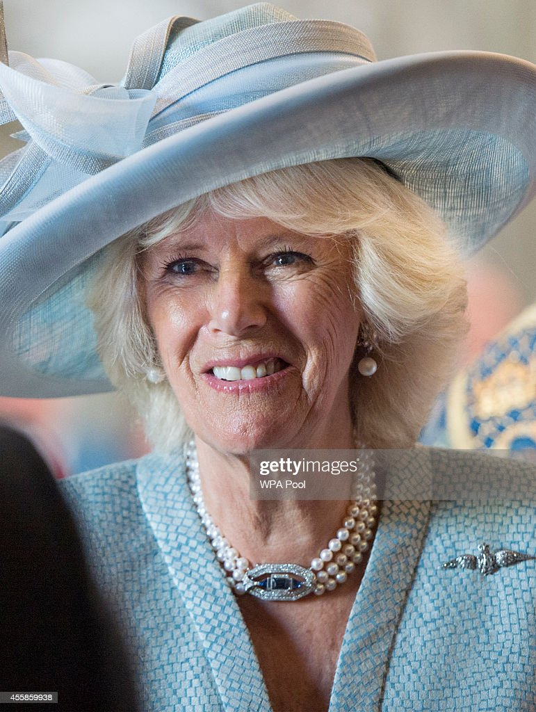 The Prince Of Wales & Duchess Of Cornwall Attend Battle Of Britain Fighter Association Service Of Thanksgiving & Rededication : News Photo