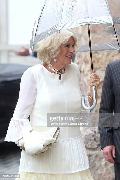 Camilla The Duchess of Cornwall attends the wedding of Lady Charlotte Wellesley and Alejandro Santo Domingo at Illora on May 28 2016 in Granada Spain