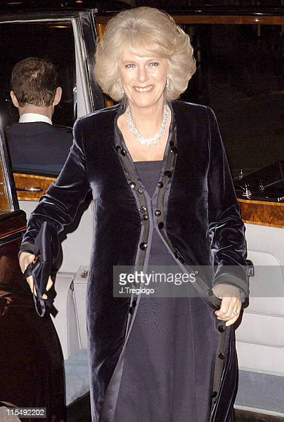 Camilla The Duchess of Cornwall during 'Madame Butterfly' Royal Gala Charity Performance in London December 16 2005 at Coliseum in London Great...