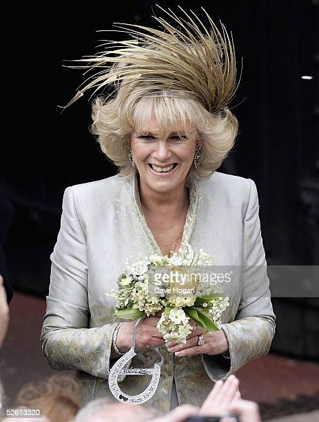Camilla the Duchess Of Cornwall meets the crowd following the Service of Prayer and Dedication after her marriage to Prince Charles at The Guildhall...