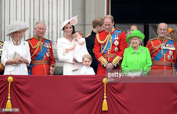 Camilla, The Duchess of Cornwall, Prince Charles, Prince of Wales, Catherine, Duchess of Cambridge, Princess Charlotte of Cambridge, Prince George of...