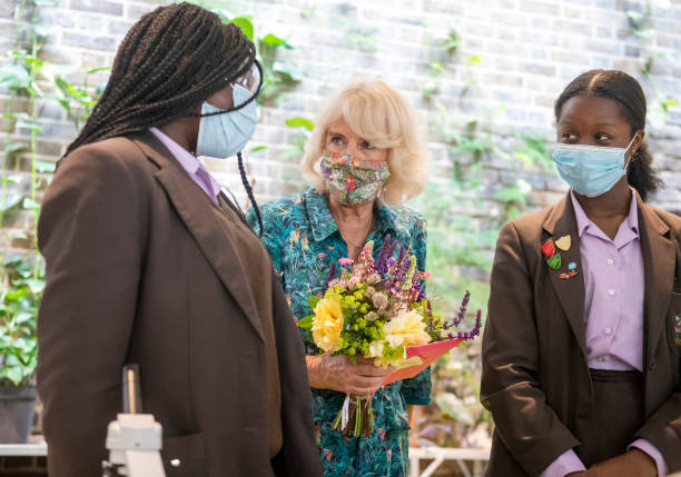 GBR: The Duchess Of Cornwall Visits The Garden Museum And Opens The British Flowers Week Festival